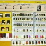 витрина для телефонных аксессуаров