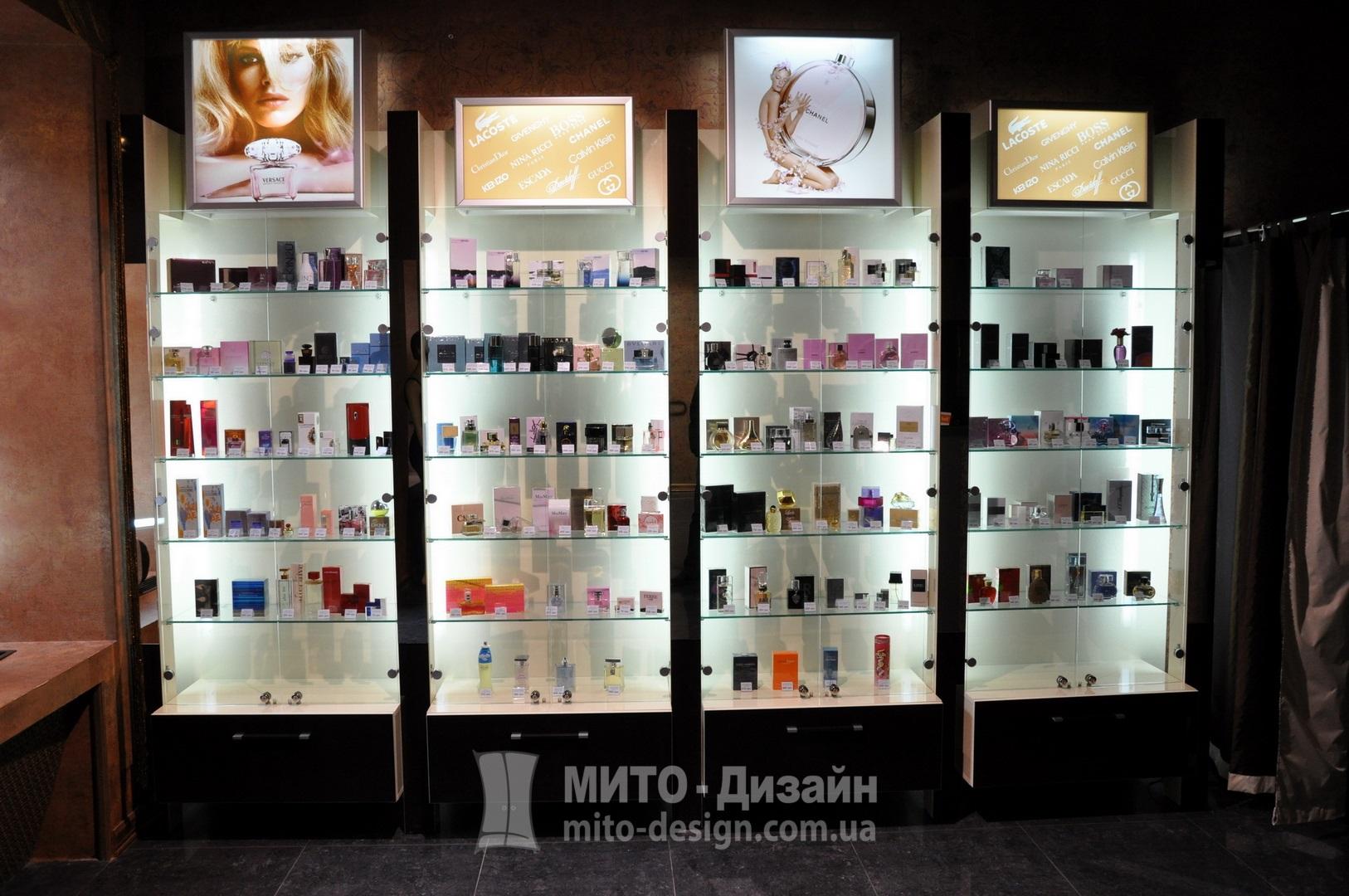 Торговый стеллаж для парфюмерии
