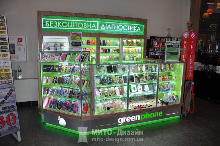 торговый островок витрина для телефонов