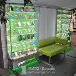 торговый островок витрина для сотовых аксессуаров
