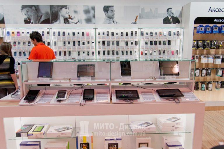 витрины для магазина телефонов