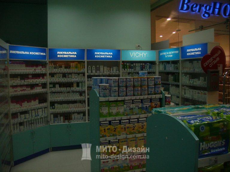 торговое оборудование сети аптек