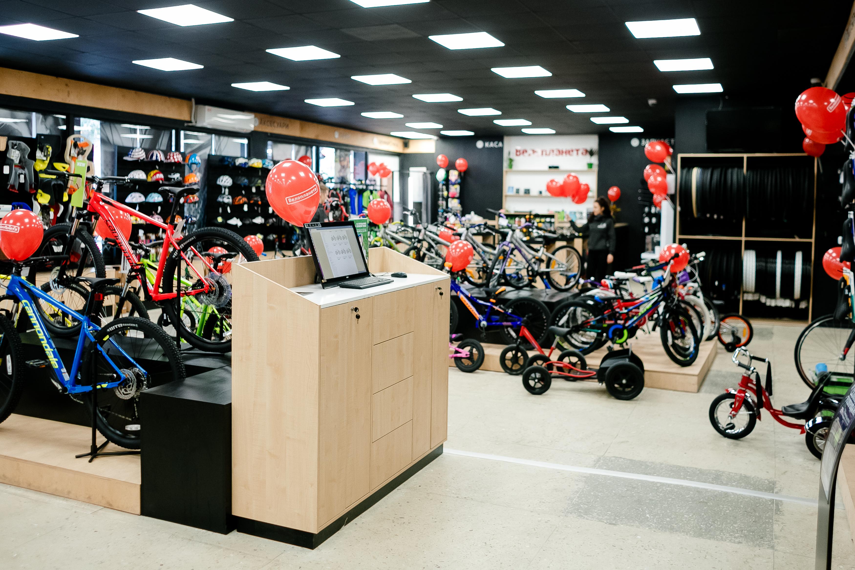 Торговое оборудование магазин велопаланета