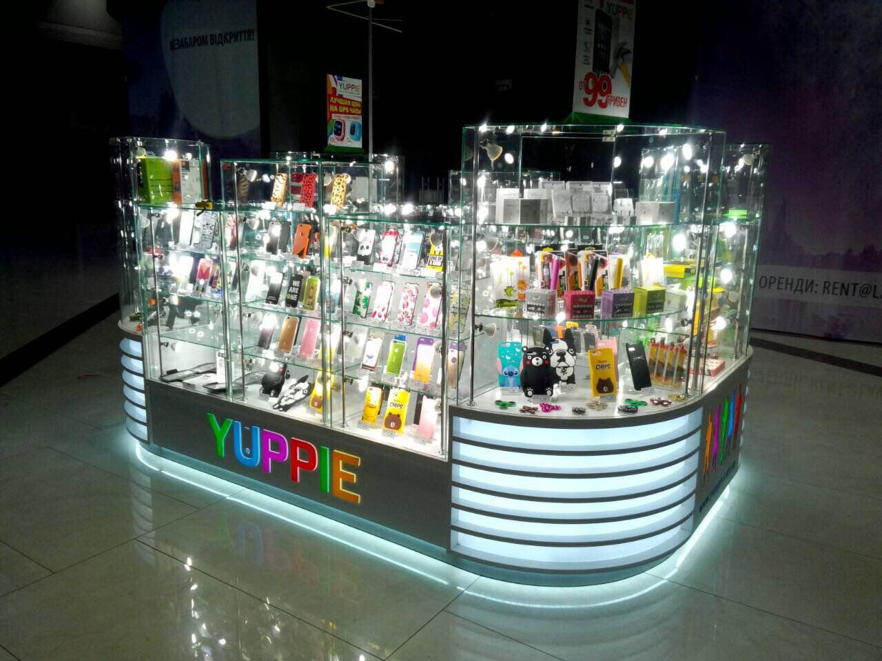 Торговый островок Мито-Дизайн магазина Yuppie