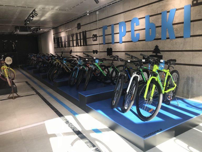 Торговое оборудование для магазина велосипедов